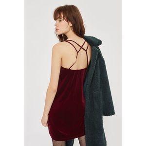 • topshop • velvet slip dress